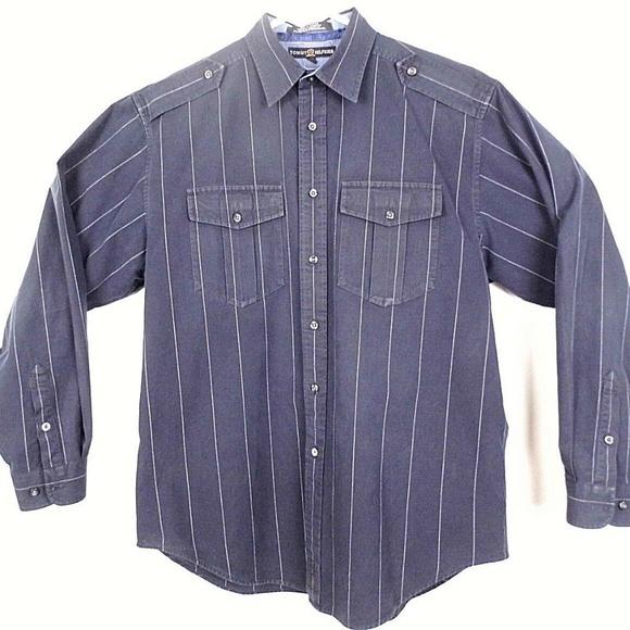 Tommy Hilfiger Other - TOMMY HILFIGER Men's L/S Button Up Shirt Black J39